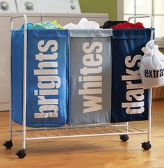 Three grid Oxford cloth laundry basket of dirty clothes storage baskets dirty clothes basket bathroom laundry basket dirty clothes storage barrels - Taobao