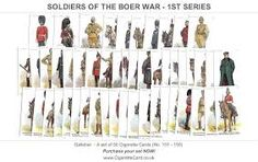 Regimental Uniform Cigarette Cards series, Soldiers of the Boer War Cards Sets, Trading Cards Issued in 1901