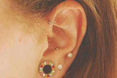 The forward helix + anti-tragus + double lobe