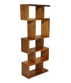 Nicho Biblioteca - em MDF (25mm), acabamento em lâminas de madeira