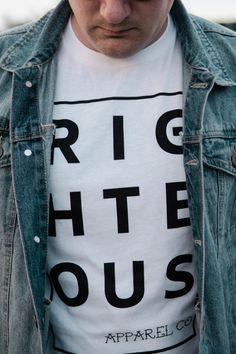 Righteous Apparel Co. Mens Fashion App, Fashion Shirts, Women's Fashion, Hipster Fashion, Fashion Vintage, Christian Clothing, Christian Apparel, Jesus Shirts, Hipster Outfits