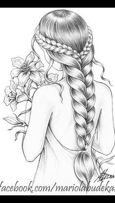 Disney Art Drawings Sketches Pencil Illustrations Ideen Source by Art Drawings Sketches Simple, Girl Drawing Sketches, Dark Art Drawings, Girly Drawings, Art Drawings Beautiful, Pencil Art Drawings, Beautiful Girl Drawing, Pencil Sketch Art, Drawing Drawing