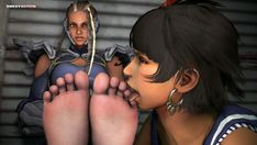 Tekken 7 Master Raven foot worship, the female ninja has her feet licked and caressed after winning her fight against Josie Rizal. Female Ninja, Tekken 7, Video Game Characters, Fighting Games, Female Dominance, Worship, Raven, Cute, 3d