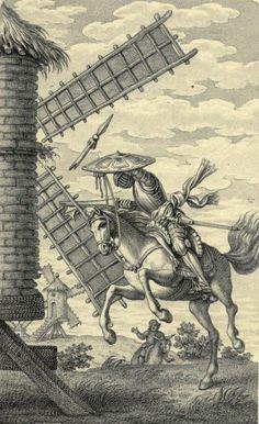 Иллюстрация из 'an иконографии Дон Кихот 1605-1895' Генри Спенсер Эшби. Опубликовано в 1895 г. в Лондоне библиографического общества. Robarts - Университет Torontoarchive.org