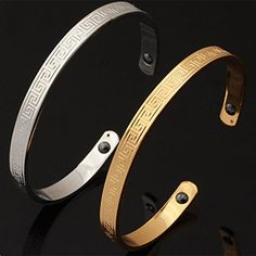 ChokuShop 14 New Luxury Magnetic Bangles Fashion Jewelry Women Gift 18K Real Gold Plated Ajustable Cuff Bracelets H422 ** Click on the image for additional details. This is an affiliate link.