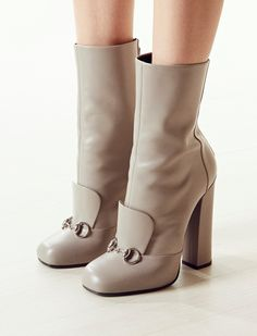gucci leather horsebit ankle boots