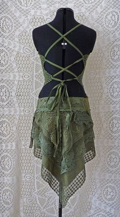 LAYER RUFFLE SKIRT green boho romantic jungle gypsy This skirt is design and sewn by a professional tailor and fashion designer This skirt is built