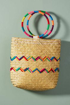 How to Wear a Straw Tote Bag This Summer - 45 Amazing Outfits Bike Bag, Straw Tote, Jute Bags, Floral Pillows, Unique Bags, My Bags, Purses, Baskets, Bags 2018