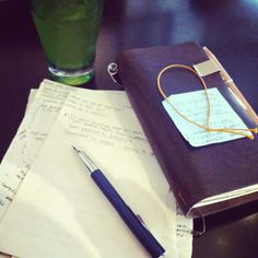 Fountain pen & travelers notebook on adventures