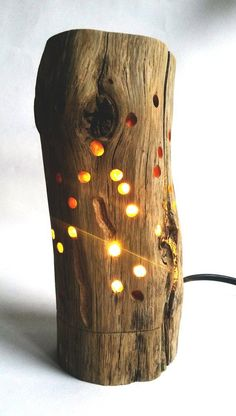 Night lamp light in 2020 Driftwood Lamp, Driftwood Crafts, Wood Lamps, Lampe Decoration, Wood Patterns, Henna Patterns, Wood Creations, Night Lamps, Lamp Design