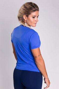 Camisa Yeah, I'm a Runner Azul Royal