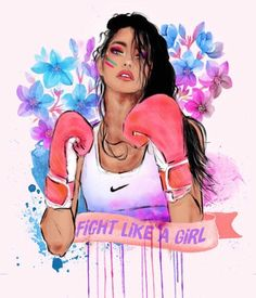Image de girl, fight, and nike