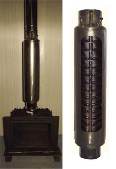 Echangeur en inox pour chauffer l'eau grâce au tube de sortie d'une cheminée ou d'un pôele