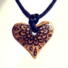 Wood Heart Necklace Wooden Pendant Hand Carved. by FluffyFenris, £10.00  #Jewelry  #Pendant  #Wood  #woodnecklace  #woodcarvedpendant  #woodjewellery  #uk  #woodenpendant  #WoodHeartNecklace #Heart #Jewelry  #Pyrography  #WoodBurning  #Handmade  #HeartNecklace #Rustic  #HeartPendant