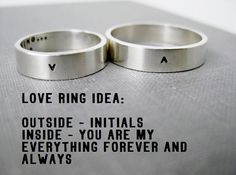 Quote Idea - Personalized Ring, Love Ring, Promise Ring, Wedding Ring, Anniversary Ring, Stamped, Solid Sterling on Etsy, $102.00
