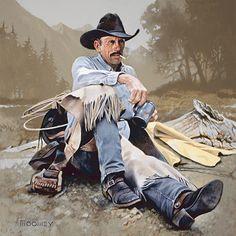 Trail Boss by Bill Moomey Oil ~ 36 x 36