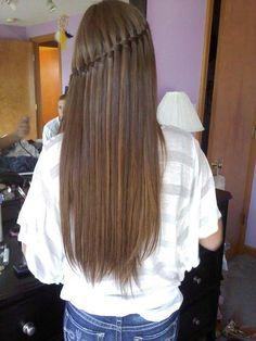 long hair cute braid