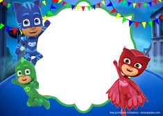 Download Now 9 FREE PJ Masks Birthday Invitation Templates