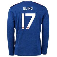 Manchester United 16-17 Daley Blind 17 Udebane Trøje Kortærmet.  http://www.fodboldsports.com/manchester-united-16-17-daley-blind-17-udebane-troje-kortermet.  #fodboldtrøjer