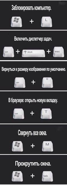 сочетание клавиш PC