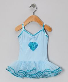 Take a look at this Light Blue Kayla Skirted Leotard - Infant, Toddler & Girls by Fairy Dreams on #zulily today!