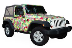 lilly pulitzer jeep!
