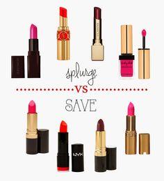 life of a passeri: lipsticks... splurge vs save