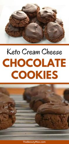 The ONLY Keto Cookie Recipes You Need! These are the BEST keto cookie recipes — 20 easy keto cookies that are a must-try for anyone on a ketogenic diet! Keto Chocolate Chip Cookies, Keto Cookies, Chocolate Glaze, Ketogenic Desserts, Keto Friendly Desserts, Keto Snacks, Low Carb Deserts, Low Carb Sweets, Low Carb Keto
