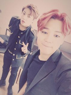 BTS Tweet- Jimin & Jungkook (selca) 150628 --이삐드라 고생많이 했어요-- [tran] My lovelies, you've suffered a lot. Today was fun, too. Trans cr; JYeoshin @ bts-trans 오늘도 즐거웠다아 #JIIMIN