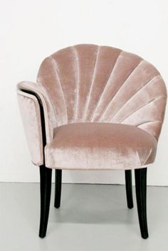 #EddieBorgo | Inspiration | Art Deco Shell Back Boudoir Chair, 1920