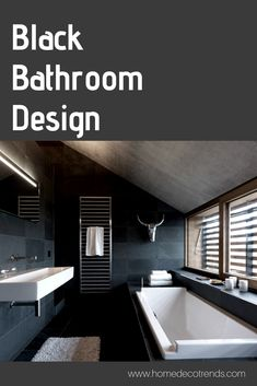 Black bathroom design ideas #bathroomdesign #bathroomremodel #black