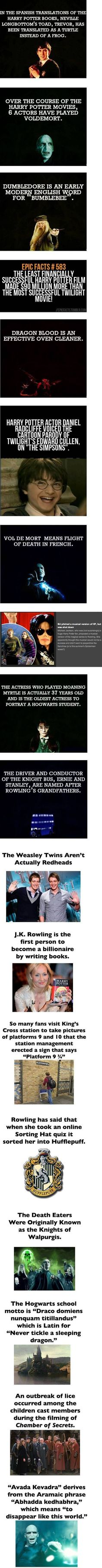 Harry Potter fun facts, anyone?