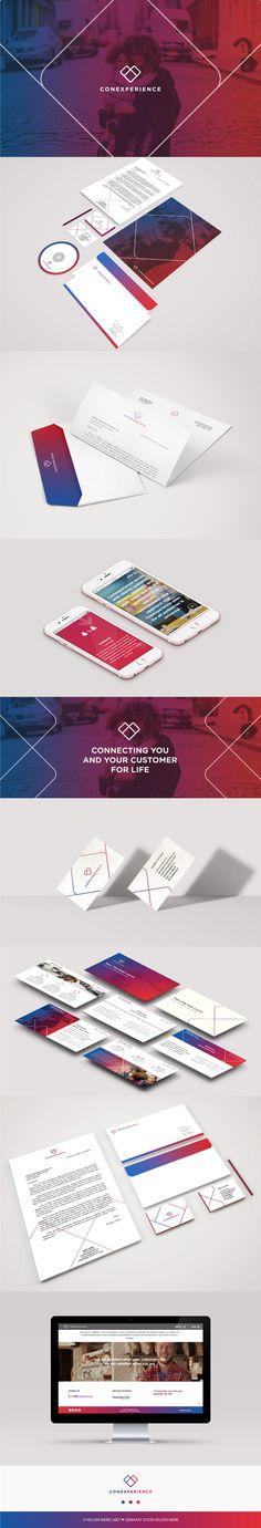 Brand Identity voor Conexperience, die internationale ambities heeft en steeds vaker samen werkt met grote, bekende organisaties.