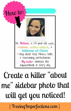 """How to Make an """"About Me"""" Sidebar Photo"""