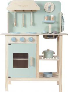 Little Dutch - Wooden Play Kitchen Mint Kitchen, Kitchen Cart, Wooden Toy Kitchen, Wooden Toys, Wooden Kitchens, Dutch Kitchen, Ideal Toys, Oven Glove, Kids Store