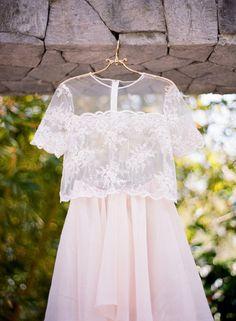 Dreamy two piece wedding dress: http://www.stylemepretty.com/little-black-book-blog/2016/05/24/pretty-plates-two-piece-wedding-dress-tropical-styled-shoot/   Photography: Audra Wrisley - http://audrawrisley.com/