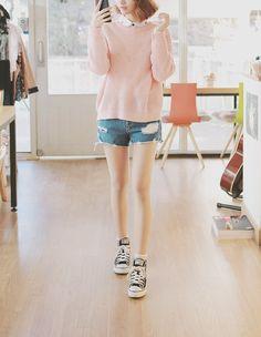 Kfashion | sweater + shorts
