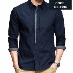 Blue Designer Shirt with Grey Contrast in Pakistan.find latest pakistani designer shirt for men with discount price with cash on delivery in Islamabad