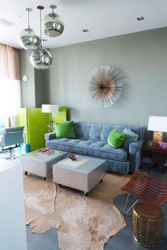 VINTAGE & CHIC: decoración vintage para tu casa · vintage home decor: Frank Roop... y un montón de sofas azules · and a bunch of blue sofas