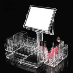 Lipstick Holder Display Stand Clear Acrylic Cosmetic Organizer Makeup Case Storage Makeup Organizer
