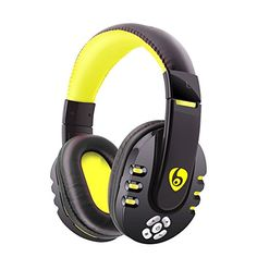 Wireless Bluetooth Headphones Bodecin Skin Friendly Leather 3D Sound Sport Rechargeable Bluetooth Headsets for iPhoneiPadAndroid Build in Mic with USB Charging CableBlackYellowV8 ** For more information, visit image link.(This is an Amazon affiliate link and I receive a commission for the sales) #RunningElectronicsGadgets