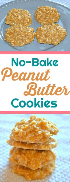 Growing up, no-bake peanut butter cookies were a family favorite. This classic cookie recipe makes for a delicious treat for everyone! Best Dessert Recipes, Delicious Desserts, Yummy Food, Healthy Desserts, Yummy Recipes, Recipies, Healthy Recipes, Baking Recipes, Cookie Recipes