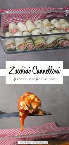 How to make zucchini cannelloni! This is so delicious!-So machst du Zucchini Cannelloni! It& so easy to make zucchini cannelloni! Healthy Breakfast Recipes, Easy Healthy Recipes, Healthy Snacks, Keto Recipes, Vegetarian Recipes, Easy Meals, Keto Snacks, Crock Pot Recipes, Slow Cooker Recipes