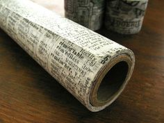 Black and White Old Dictionary Tissue Paper Wrap by chickydoddle, $15.45