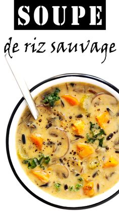 This Cozy Autumn Wild Rice Soup is the perfect fall comfort food! It's easy to m. - This Cozy Autumn Wild Rice Soup is the perfect fall comfort food! It's easy to m. This Cozy Autumn Wild Rice Soup is the perfect fall comfort food! Slow Cooker Recipes, Cooking Recipes, Healthy Recipes, Slow Cooker Vegan Soup, Cooking Tips, Cooking Ham, Healthy Soups, Vegan Sweet Potato Recipes, Pressure Cooker Soup Recipes