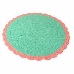 Crochet Rug Minty Pink