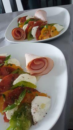 Repas Été tomate-mozza jambon blanc