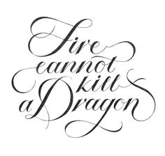 Fire cannot kill a Dragon #tanyacherkiz #letters #lettering #handlettering #typography #dailytype #sketches