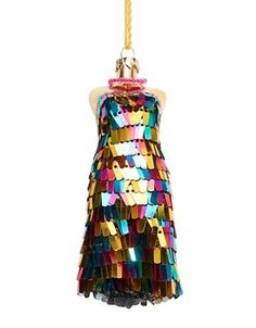 Lord & Taylor Sequined Dress Ornament Women's Multi