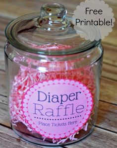 Free Diaper Raffle Tickets Printable